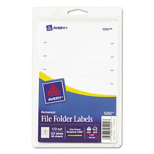 Avery Print or Write File Folder Labels 11/16 x 3 7/16 White 252/Pack 05202