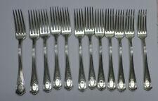 "12 Louis XVI Oneida Community Plate Silverplate Forks 7 1/2"" No Monograms 1911"