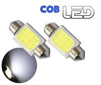 2 Ampoule Navette C10W 41 mm 41mm 6 LED COB Blanc Coffre Habitacle Plafonnier