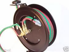 25FT 1/4 ID AUTOMATIC RETRACTABLE OXYGEN ACETYLENE WELDING HOSE WITH REEL
