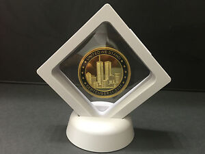 World Trade Center,Gold Plated Coin,September 11,Memory Token 9/11 & Frame