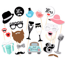 Photo Booth Just Married Fun Brides Groom Wedding Ornaments Props Decorations