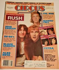 Circus Magazine November 30 1982 Rush GoGos Sabbath John Cougar The Who Ozzy