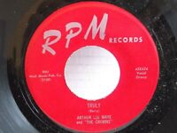 "Arthur Lee Maye & Crowns,RPM 424,""Truly"",US,7"" 45,1956, classic RnB, Mint"