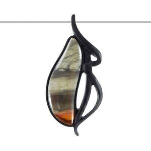 Carved Wood Succor Creek Jasper Designer Bead GF804003