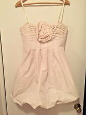 Bcbg MaxAzria Dress Bubble Balloon Size 8 Beige Off White Strapless