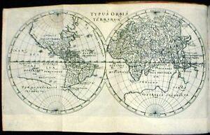 Antique map, Typus Orbis Terrarum