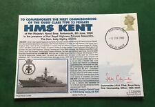 Royal Navy Ltd Edition Cover HMS Kent Duke Class Type 23 Frigate