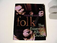 FOLK MUSIC - THE OFFICIAL ALBUM GUIDE - PAPERBACK BOOK! INCLUDES NEW/SEALED CD!!