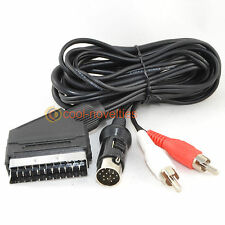 ATARI STe RGB SCART LEAD WITH STEREO AUDIO / VIDEO CABLE - 2 METRES