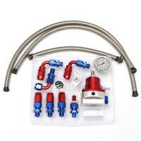 UniversaL Adjustable Fuel Pressure Regulator Kit 160PSI Oil Gauge AN 6   ++