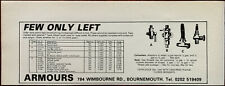 Armours, Bournemouth Petrol Taps Few Only Left Vintage Advertisement 1982