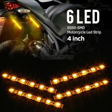 "4x 4"" LED Turn Signals Car/Motorcycle License Plate Flexible Strip 6-5050-SMD"