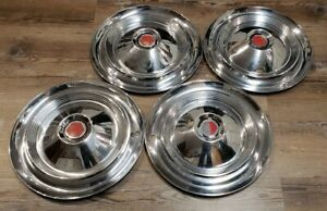 1955 1956 Packard Caribbean & 400 15inch wheel hub caps set of 4 oem