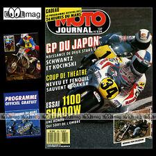 MOTO JOURNAL N°839 GRAND PRIX SUZUKA, HONDA RC 30 & VT 1100 SHADOW, LE MANS 1988