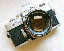 Minolta SRT 201 202 Camera Rokkor-PF 58mm/1.4 Lens Tested Working Great!