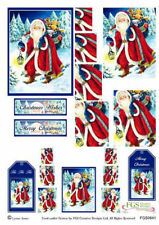 Decoupage Sheet Card Making Father Christmas Christmas Twister
