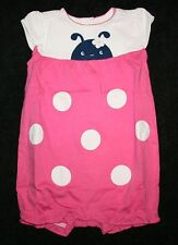 New Gymboree Sweet Ladybug Bubble Romper 12-18m Pink Ladybugs Brand New Baby