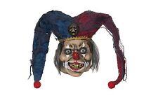 Deranged bufón Látex Overhead Horror Halloween Vestido de Fantasía Accesorio