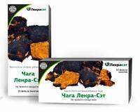 Siberian Chaga Mushroom Tea Bags Blend raw + extract powder 20 tea bags