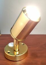 LACQUERED BRASS ACCENT READING LIGHT MARINE BOAT 20W HALOGEN BULB ON 12V
