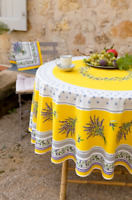 """Made in France NWT FRENCH PROVENCAL COTTON 71/"""" ROUND TABLECLOTH MARAT AVIGNON"""