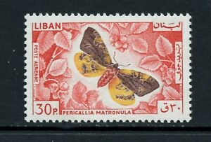 X189 Liban 1965 Papillons 30p. 1v. MNH