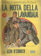 (Ezio D'Errico) La nota della lavandaia 1947 gialli n.21