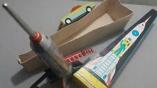 Vintage Rakete Spielzeug Space Tin Friction Holdraketa lemezaru Ungarn OVP
