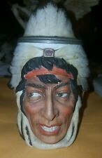 Ernst Bohne & Sohne Germany 1/4 Litre Figural Indian Stein Authentic 1890's