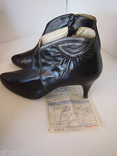 Vintage Robertina Side Zip Ankle Boots Booties Size 6.5 W scarce MADE IN SPAIN