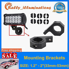 1.2''-2'' MOUNT BRACKET TUBE CLAMPS FOR LED LIGHT BAR OFF ROAD BULL BAR HID LLY