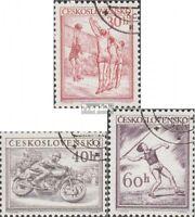 Tschechoslowakei 823-825 (kompl.Ausg.) gestempelt 1953 Sport