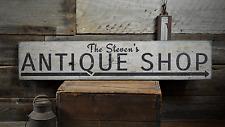 Antique Shop, Custom Arrow Antique - Rustic Distressed Wood Sign ENS1001392