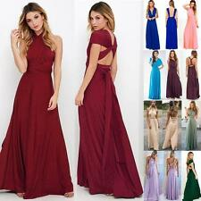Sexy Bridesmaid Formal Multi Way Wrap Convertible Infinity Maxi Dress 17 Colors