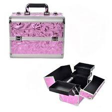 Schminkkoffer Friseurkoffer Beauty Case Kosmetikkoffer Pilotenkoffer Pink Koffe