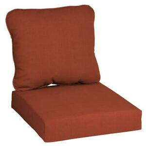 24 in. x 22 in. CushionGuard Quarry Red 2-Piece Deep Seating Outdoor Lounge