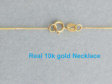 10k  Gold 0.55mm  Italian box  Chain Necklace 18 inch
