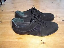 Medicus by Deichmann ladies black suede trainer style shoes, size 5.5