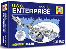 RARE UK ONLY HAYNES STAR TREK USS ENTERPRISE BLUEPRINT 1000 PIECE JIGSAW PUZZLE!