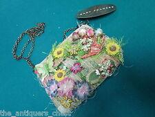 Mary Frances hand bag/purser, beautiful flower decorations, original tag[B]