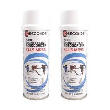 (2 Pack) 10 Seconds Shoe Disinfectant and Deodorizer Kills MRSA 5 oz.