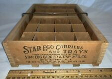 ANTIQUE 24 HOLE STAR EGG CARRIER WOOD DISPLAY FARM CHICKEN COUNTRY STORE DISPLAY