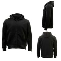 GP Unisex Mens Cotton Zip Up Hoodie No Pill Fleece Hooded Jacket Blank Plain