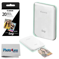 Canon IVY Mini Photo Printer (Mint Green) + ZINK Photo Paper 20 + Cleaning Cloth