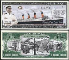 New RMS Titanic w/Captain Smith Million Dollar Bill Funny Money Novelty Note #2