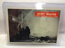 1965 War Bulletin Card # 48 Secret Weapon Great Britain July 1st 1944