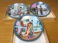 3 Imperial Jingdezhen Porcelain Collector Plates w/Boxes & Papers - Excellent