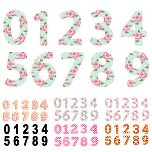 "7"" Vinyl Wheelie Bin House Numbers Adhesive Wheely Stickers Waterproof Sticker"