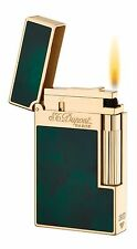 ST DUPONT ATELIER LIGNE LINE 2 LIMITED EDITION GOLD LIGHTER GREEN LACQUER 16259